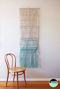 ouchflower — Dip Dyed Macrame Wall Hanging