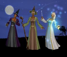 Three of the colorings available include the same colors as the witch gowns in the game. Witch Dress, Witch Outfit, Supernatural Witch, Sims 2 Games, Celtic Dress, The Good Witch, Sims 1, The Sims4, Color Show