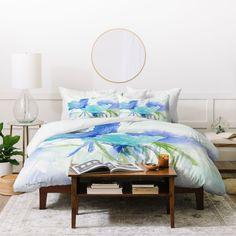 Blue as the Sea Duvet Cover King Duvet Set, Queen Duvet, Duvet Sets, Duvet Cover Sets, Down Comforter, Bed Duvet Covers, Pillow Shams, Luxury Bedding, Home Decor