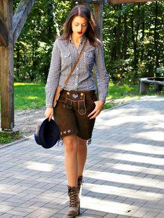 Mädchen Lederhose