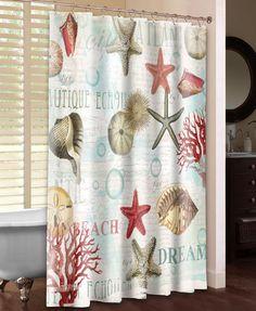 Dream Beach Shells Shower Curtain – Laural Home