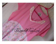 Diseño victoriano rosa M L urbano vestido por QueenoFairyLand