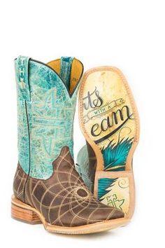 6412de3fbbb Tin Haul Dreamcatcher Start With A Dream Sole Boots Urban Western Wear Cowboy  Boots