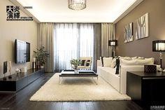 Modern minimalist living room television wall design