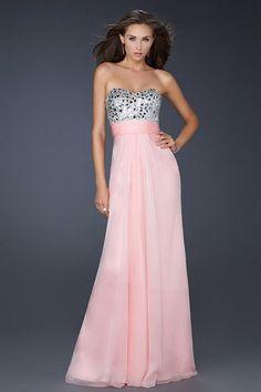 Pink Strapless Long Homecoming Dress By La Femme 17909 [Pink La Femme 17909] - $138.99 : Fashion dresses, 50% off Designer dresses at UrDressOnline
