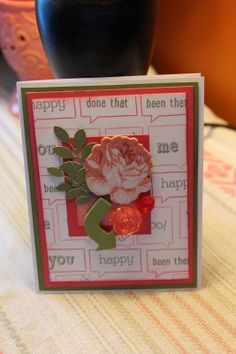 Creating With Inks, Paper, Stamps and Bling!!!: Balloon Talk Hop {CTMH, rose}