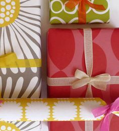 Pikku wrapping paper + cotton ribbon, Spring * Summer
