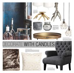 """""""Untitled #362"""" by zitanagy ❤ liked on Polyvore featuring interior, interiors, interior design, home, home decor, interior decorating, H&M and decoratewithcandles"""