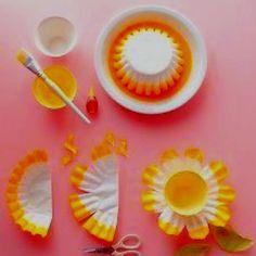DIY flower cupcake liners