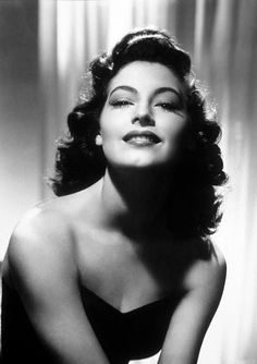 Ava Gardner  it's no wonder she almost drove Frank Sinatra to commit suicide...beautiful AVA!