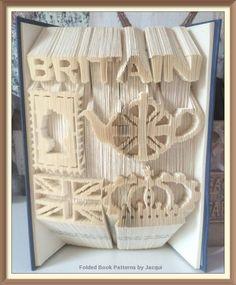 BRITAIN Combination Cut and Fold Book Folding PATTERN by JHBookFoldPatterns on Etsy