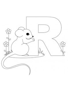 Printable animal alphabet letters coloring pages letter R is for rat.free print p out animal alphabet letters coloring pages letter R is for rat for kids Teddy Bear Coloring Pages, Letter A Coloring Pages, Coloring Letters, Dinosaur Coloring Pages, Preschool Coloring Pages, Animal Coloring Pages, Free Printable Coloring Pages, Free Coloring Pages, Coloring Books