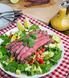 Carne Asada Salad......I just love my salad..Hehehe...!!