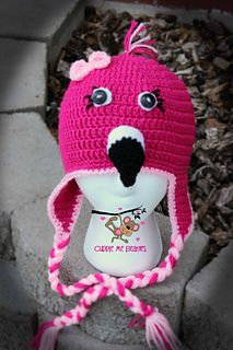 Flamingo Beanie Pattern - $6.99 by April Bennett with Cuddle Me Beanies