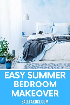 Is your bedroom a relaxing haven where you can retreat from the world? Or is it cluttered and messy, with piles of laundry or books on every surface? Follow these simple steps for a summer bedroom makeover that will create a peaceful space for relaxation and sleep #HomeDecor #Bedroom #InteriorDecor #Summer Summer Bedroom, Interior Decorating, Home And Garden, Home Decor, Interior Styling, Homemade Home Decor, Interior Design, Home Interiors, Decoration Home