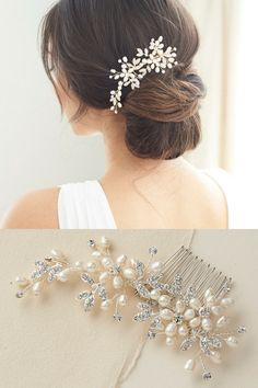 Wedding hair comb offers a touch of elegance and whimsy with its unique design.