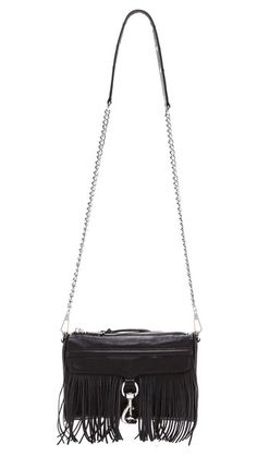 Rebecca Minkoff Mini MAC Fringe Cross Body Bag