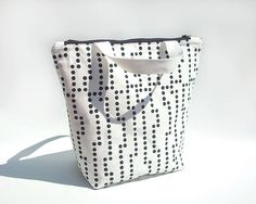 Minimalist lunch bag for women / Reusable lunch bag / Lunch tote in cotton / Waterproof lunch bag / Sac a lunch