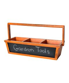 Look at this Orange Wood Three-Section Chalkboard Basket on #zulily today!
