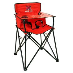 ciao! baby Miami University Portable Highchair in Red,