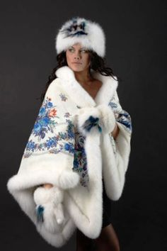 зимняя одежда из павлопосадских платков1