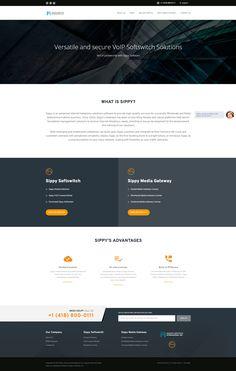 Partnership micro-site web design project for a telecom company.
