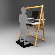 Adjustable Standing Desk on Behance