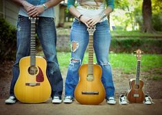 Daddy, Mommy, and Baby Guitar Picture