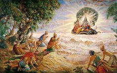 Srimad Bhagavad Gita is a Sanskrit scripture which is part of the Mahabharata, one of the major Sanskrit epics of ancient India. Bhagavad Gita is the Hare Krishna, Krishna Images, Krishna Radha, Krishna Leela, Krishna Statue, Radha Rani, Krishna Photos, Lord Vishnu, Deus Vishnu
