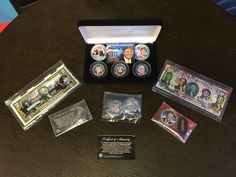 One lucky winner will receive a customized Trump Bundle, and 5 others will win items from the Trump Coins collection.