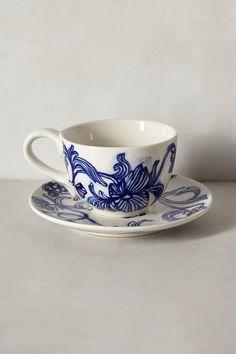 $18.0  Ruan Hoffmann Jardin Des Plantes Cup & Saucer