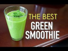 The Best Green Smoothie Recipe |1 cup frozen mango 1 cup frozen pineapple 1 apple 1 pear 1 stalk of celery Handful of parsley  1 tall glass of organic coconut water