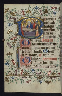 Illuminated manuscript, Book of Hours in Dutch, Entombment, Walters Manuscript W.188, fol. 81v by Walters Art Museum Illuminated Manuscripts, via Flickr