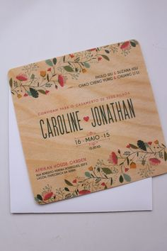 beautiful invite idea for a more relaxed venue