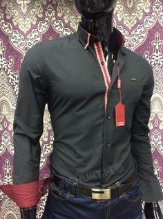 Koszula Męska Sedna TR8035  _A11 (M-3XL) CZARNY