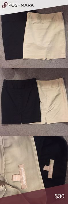 Two Banana Republic Skirts These are classics pencil skirts in GUC. I just have more black and tan skirts than I need. Get Black and Tan for one price! Side zip closures Banana Republic Skirts Pencil