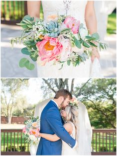 I love her peony and succulent wedding bouquet! Add roses?