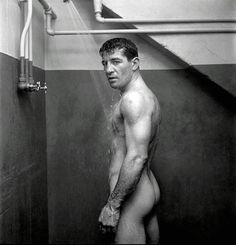 American boxer Rocky Graziano photographed by Stanley Kubrick for Look magazine, 1950.