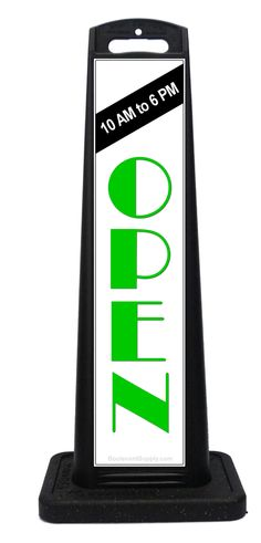 Portable Sidewalk Sign Open Sign attracts attention from drivers and pedestrians. Portable Signs, Sidewalk Signs, A Frame Signs, Retail Signs, Open Signs, Business Signs, Custom Labels, Safety, Store