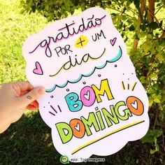 Bom domingo Facebook Instagram, Instagram Posts, Happy Week End, Insta Posts, Good Morning Quotes, Insta Makeup, Quote Of The Day, Hand Lettering, Improve Yourself