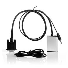 Baseqi VGA to HDMI cable with audio VGATOHDMI line VGA to HDMI converter Resolution 1080P Silver cable