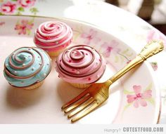 Nice finishing touch to a swirled cupcake.