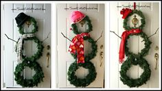 DIY Snowman Wreath For Winter!  (Christmas, Winter & Valentine's Day)