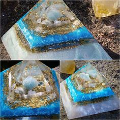 Two new Atlantis orgonite pyramids are now available in our shop ⭐️☄✨