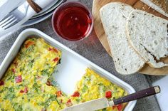 Frittata, Omelet, Red Peppers