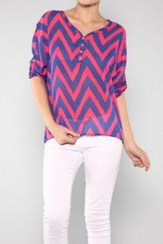 Missoni Chiffon Blouse Top Look Cool for summer!!salediem.com ships FREE $35
