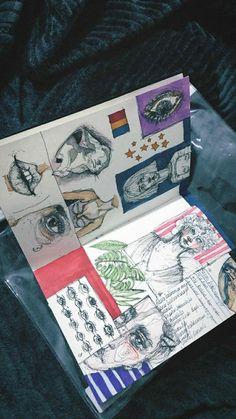 New Fashion Art Sketchbook Inspiration Ideas Kunstjournal Inspiration, Sketchbook Inspiration, Sketchbook Ideas, Sketchbook Layout, Journal Layout, Sketchbook Tumblr, Tumblr Sketches, Sketch Journal, Gcse Art Sketchbook