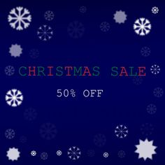 I'm offering a discount! Sale 50, Christmas Sale, Etsy Seller, Clip Art, Graphics, Creative, Graphic Design