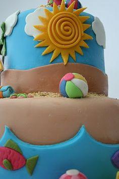 And Everything Sweet: Beach Cake My Cake Decorating Magazine mycakedecorating.com