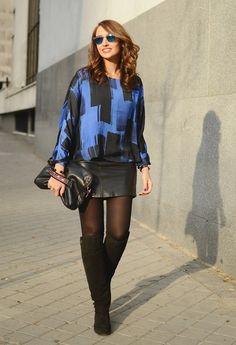 Blue blouse Streetstyle - Blog de moda http://www.elblogdesilvia.com/2015/01/Streetstyle-blue-klein-blouse-Mango-Blog-de-Moda.html